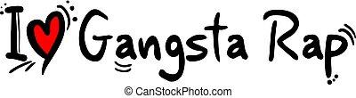 Gangsta Rap music style love - Creative design of Gangsta...