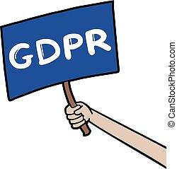 GDPR ruler message