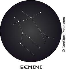 Gemini icon - Creative design of Gemini icon