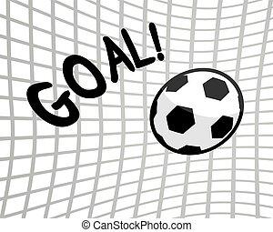 Goal football illustration