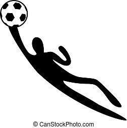 goalkeeper abstract illustration