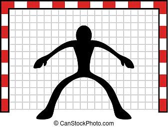 creative design of goalkeeper draw