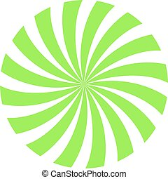 green and white circle spiral background