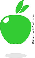 green apple flat icon