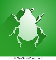 green beetle icon - Creative design of green beetle icon