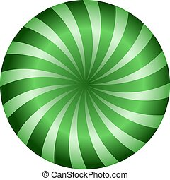 green circle spiral background