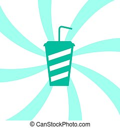 green drink icon - Creative design of green drink icon