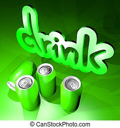 green drink - Creative design of green drink