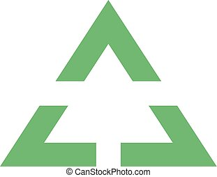 green flat triangle