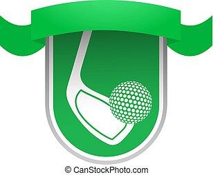 green golf ribbon emblem