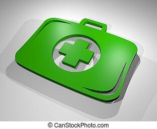 green health symbol - Creative design of green health symbol