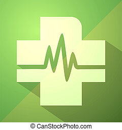 green health symbol - Creative design of green health symbol