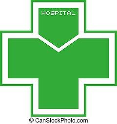 green hospital icon