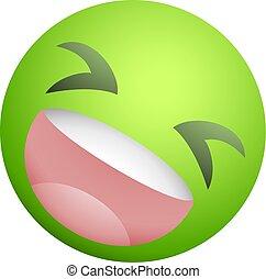 Green joking face draw