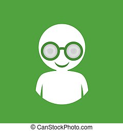 green man with glasses icon