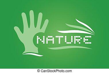 green nature art symbol