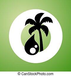 green palm oil symbol