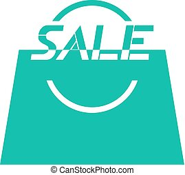 green sale bag icon