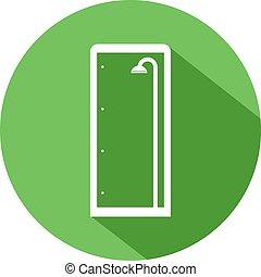 green shower enclosure symbol - Creative design of green...