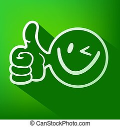 green smile face icon