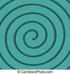 green spiral wallpaper - Creative design of green spiral...