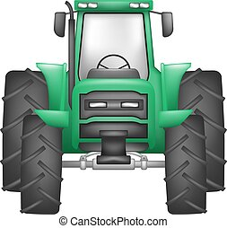 green tractor illustration