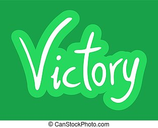 green victory icon