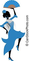 gypsy dancer illustration - Creative design of gypsy dancer...