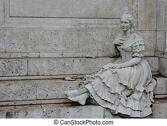 gypsy statue - Creative design of gypsy statue