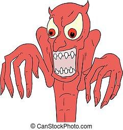 Halloween demon - Creative design of Halloween demon