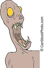 Halloween fear monster draw