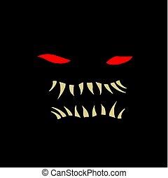 Halloween terror face - Creative design of Halloween terror...