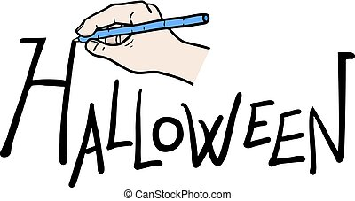 Creative design of halloween writting