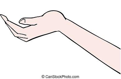 hand draw - Creative design of hand draw