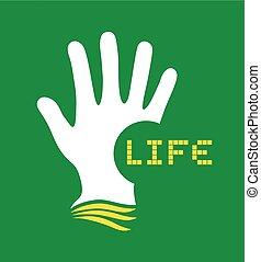 hand life symbol