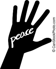 hand peace message