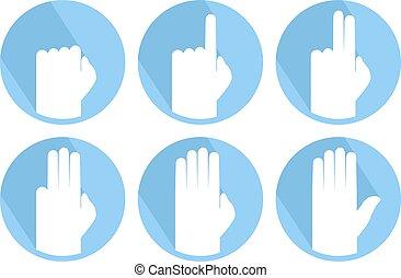 hands counting set symbols