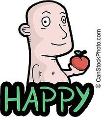 Happy apple tasty