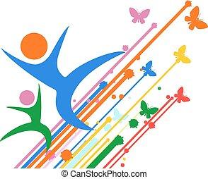 happy color dance symbol