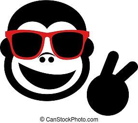 happy gorilla with sunglasses