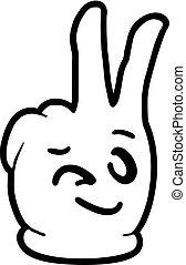 happy hand illustration