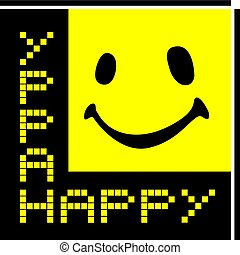 happy quadrant icon - Creative design of happy quadrant icon