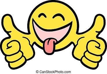 happy sticker - Creative design of happy sticker