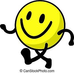 happy walking illustration