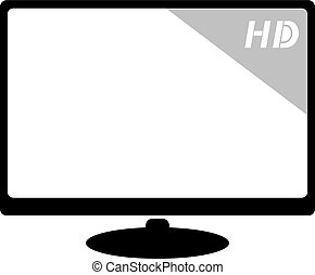 HD screen - creative design of HD screen illustration