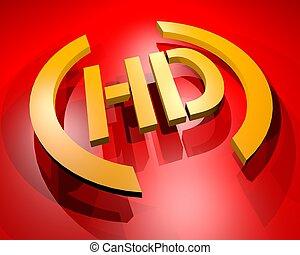 HD symbol - Creative design of HD symbol