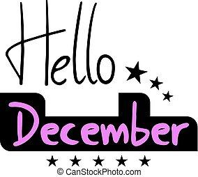 hello december symbol - Creative design of hello december ...