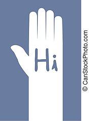 Hello icon illustration