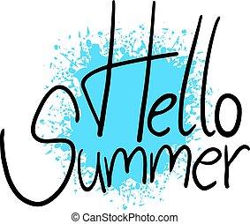hello summer symbol