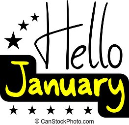 Hellos January symbol - Creative design of Hellos January...